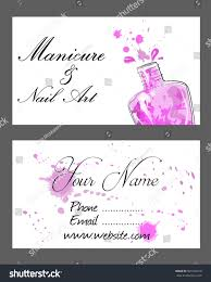 set business cards manicure nail art stock vector 509102218