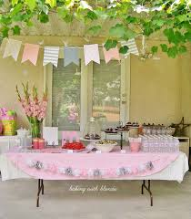 Backyard Baby Shower Ideas Baby Shower Decorating Ideas For A Girl Image Collections