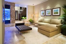 single cushion sofa living room modern with accent lighting