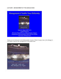 saddle nose transcribed lecture 2012
