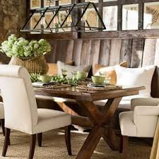 vintage dining room design with pottery barn trestle kitchen table