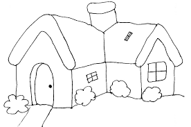 houses to color and print for adults girls kids house barn page