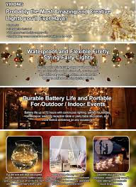 amazon com yihong 6 pcs fairy lights led string lights battery