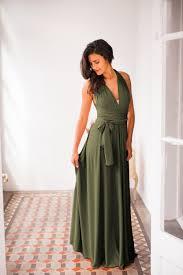 green infinity dress dark green bridesmaid dress dark sage green