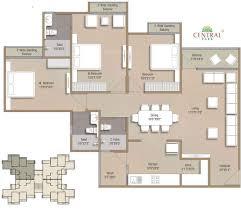 Central Park Floor Plan by Darshanam Central Park In Alkapuri Vadodara Price Location Map