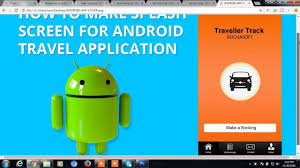 home screen icon design android splash screen for booking cab material design youtube