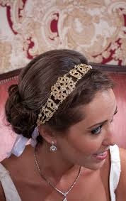 jeweled headbands large vintage style gold jeweled ribbon headband on luulla