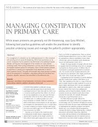 managing constipation in primary care pdf download available