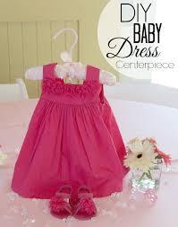 centerpieces for baby shower diy baby dress centerpiece