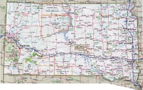 South States Map by Large Detailed Roads And Highways Map Of South Dakota State With