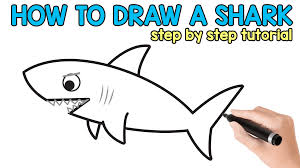 how to draw a shark easy peasy and fun