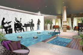 Music Themed Bedroom Interior Deluxe Music Theme Indoor Pool Home Interior Decor With