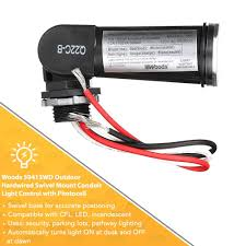 woods dusk to dawn light control troubleshooting woods outdoor conduit lighting control with photocell and swivel