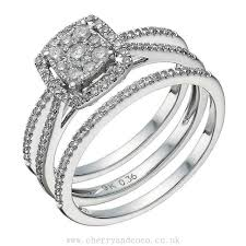 bridal ring sets uk cushion bridal ring set buy cheap womens and mens jewelry