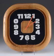 Howard Miller Clock Value Vintage Howard Miller George Nelson Oak Wall Clock Ebth
