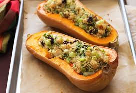 butternut squash stuffed with quinoa greatist