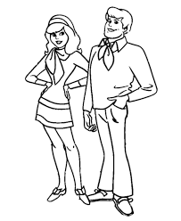 scooby doo printable coloring pages fred jones and daphne blake scooby doo coloring pages