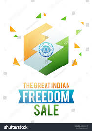 National Flags For Sale Great Indian Freedom Sale Stylish Sale Stock Vector 440886817