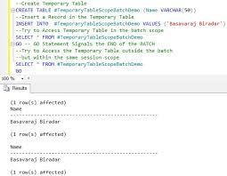 how to create temp table in sql temporary tables in user defined function sqlhints com