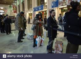 customers line up to mail their packages at the farley