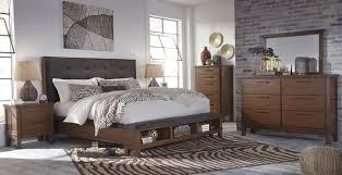 Ashley Furniture Bedroom Nightstands Ashley Ralene Brown Bedroom Set Mathis Brothers Furniture