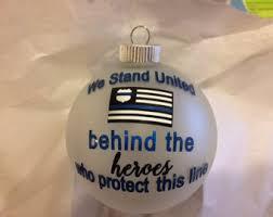 thin blue line ornament ornament enforcement