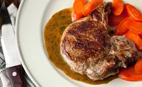 easy baked pork chops with white wine u2013mustard sauce german