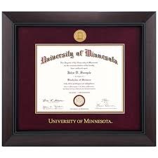 frame for diploma of minnesota bookstore