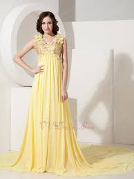light yellow prom dresses neck sequin light yellow prom dress with handcrafted flowers
