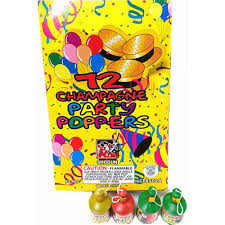 party poppers partypopper 72 72pc multi color party poppers