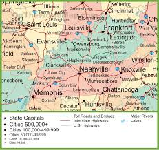 usa map kentucky state map of kentucky and tennessee