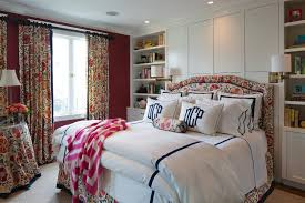 Window Treatment For Bedroom Bedroom Interior Ideas Romantic Red Velvet Cotton Large Curtain
