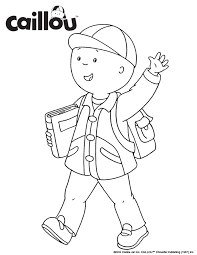 ready learn u2013 caillou coloring sheet 3 caillou activities