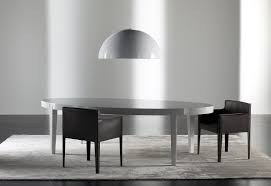 contemporary dining table oak lacquered wood oval power