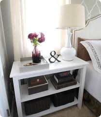 How To Make A Wooden Bedside Table by Best 25 Diy Nightstand Ideas On Pinterest Crate Nightstand