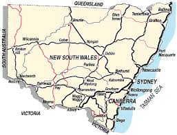 map of new south wales wilkins tourist maps new south wales map