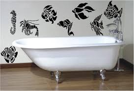 7 bathroom wall art decals quote vinyl wall art vinyl wall art fish sticker stencil style quot bathroom wall art sticker vinyl decal