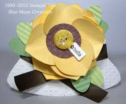 how to make a sunflower using the ornament punch tutorial