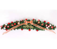 Decorate Christmas Tree Vine by Christmas Scene Layout Claw Vine Decorations 59 06in Red Bow Gift