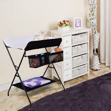 Changing Table Storage Costway Rakuten Safeplus Infant Baby Changing Table Folding