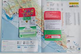 Map Of Cinque Terre Hiking Trails In The Cinque Terre