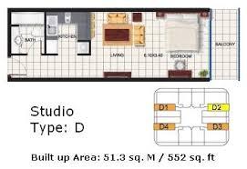 Efficiency Apartment Floor Plans Efficiency Apartment Dubai Oasis Tower 2 Studio Apartment Floor