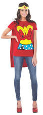 high quality halloween costumes for adults amazon com dc comics wonder woman t shirt with cape and headband