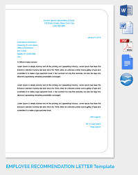 ideas of how to make an employee recommendation letter with