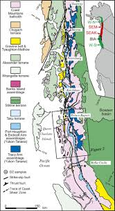 Southeast Alaska Map by U Pb And Hf Isotope Analysis Of Detrital Zircons From The Banks