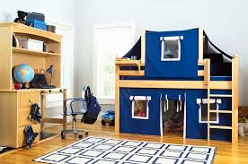 Bunk Bed With Tent At The Bottom Children S Furniture System That Promotes Economy Of Space Time