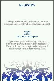 diy wedding registry how to word gift registry on wedding invite yourweek 41658beca25e