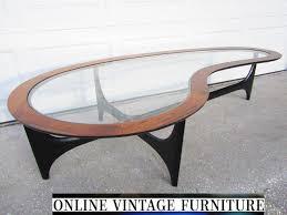 lane mid century modern coffee table restored 1960s lane amoeba table vintage mid and 50 similar items