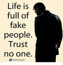 Trust No One Meme - life is full of fake people trust no one fhealthypage4u fake meme