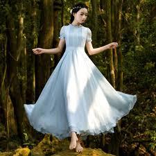 light blue long sleeve dress free shipping vintage light blue short sleeve chiffon maxi dress on